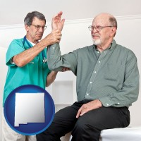 nm a rheumatologist checking a painful elbow